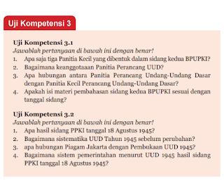 Soal dan Jawaban Uji Kompetensi 3.2 ~ PKN Kelas 7 halaman 81