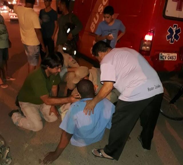 Acidente na T-14 deixa homem bastante machucado
