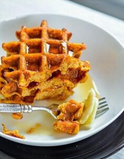 23. Waffle ubi manis dan oat