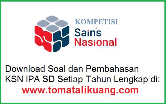 soal kunci jawaban pembahasan ksn osn sd tahun 2020 bidang ipa sains pdf tomatalikuang.com