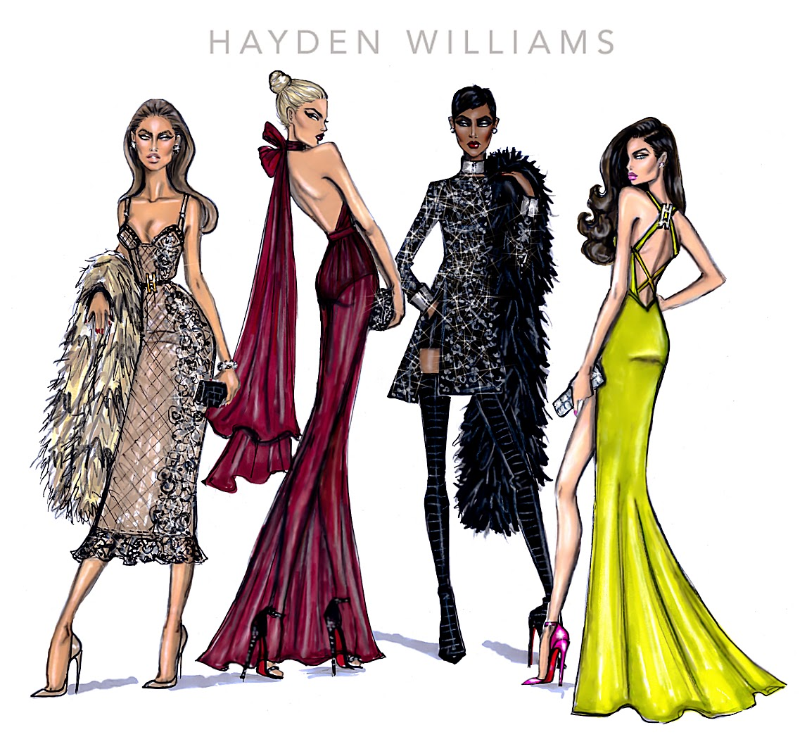 Fashion Book Cover Up ~ Hayden williams fashion illustrations