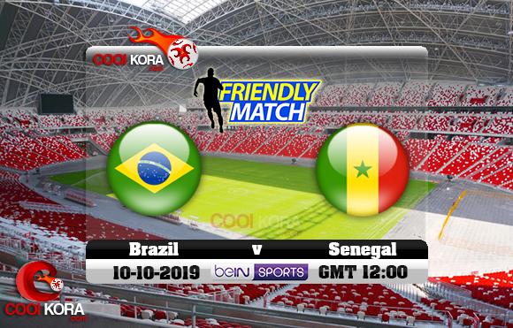 مشاهدة مباراة البرازيل والسنغال اليوم 10-10-2019 مباراة ودية