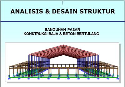 Gambar Kerja Pasar Lengkap Dengan Perhitungan Struktur
