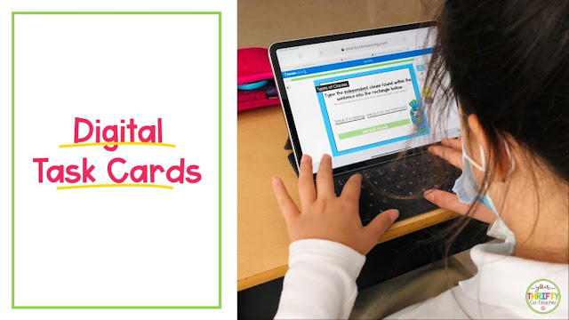 Boom Cards or digital task cards are a great way to continue to engage students while teaching during Covid.