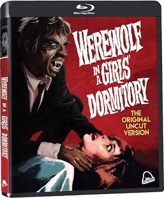 Cover art for Severin Films' Blu-ray/CD combo of WEREWOLF IN A GIRLS' DORMITORY!