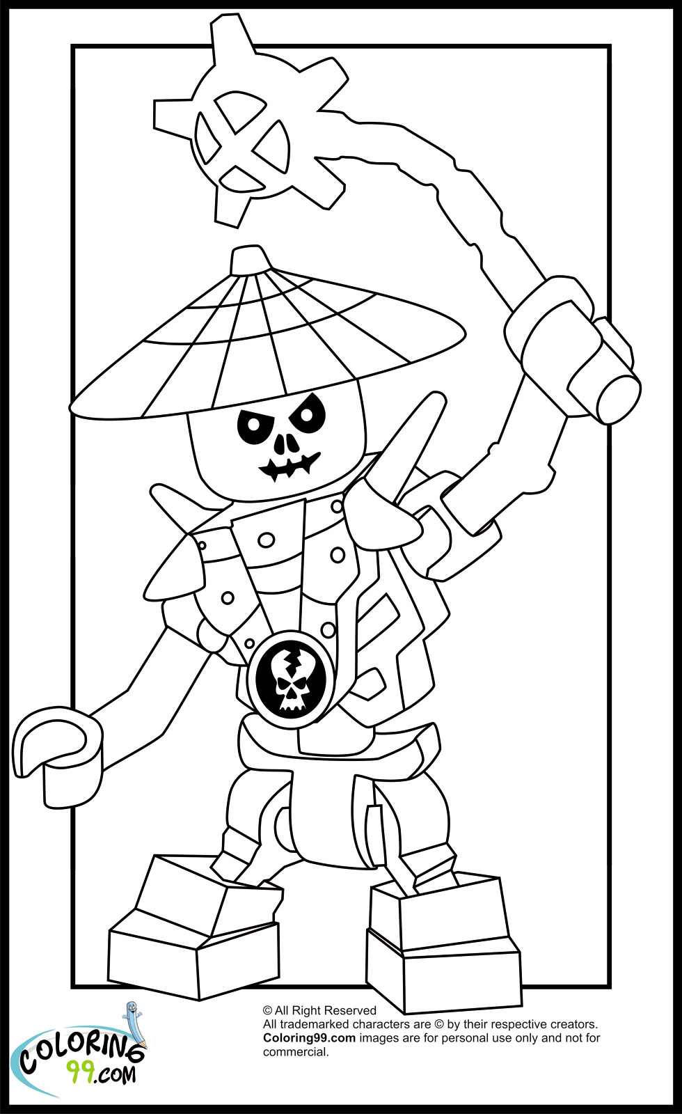lego coloring pages ninjago nindroid - photo #3