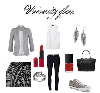 Stylowy outfit na uczelnię stylizacja moda blog modowy Converse netstylistka