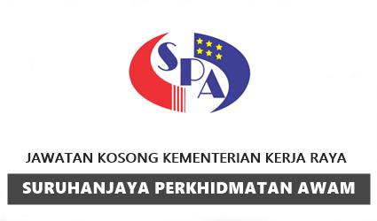 Jawatan Kosong SPA (Kementerian Kerja Raya)