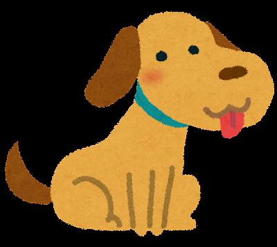 犬のイラスト「お座り」