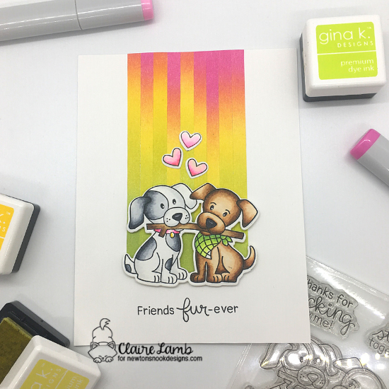 Friends fur-ever by Claire features Puppy Pals by Newton's Nook Designs; #inkypaws, #newtonsnook, #cardmaking