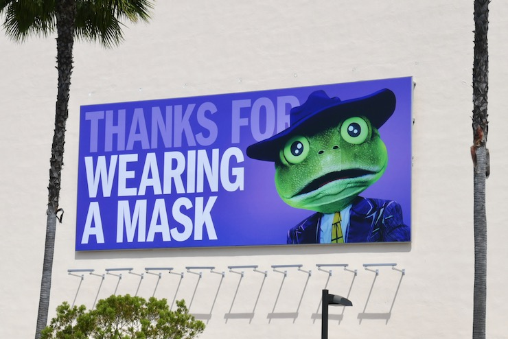 Thanks wearing mask Masked Singer billboard
