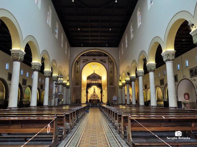 Vista do interior da Paróquia Santo Antonio do Pari - Pari - São Paulo