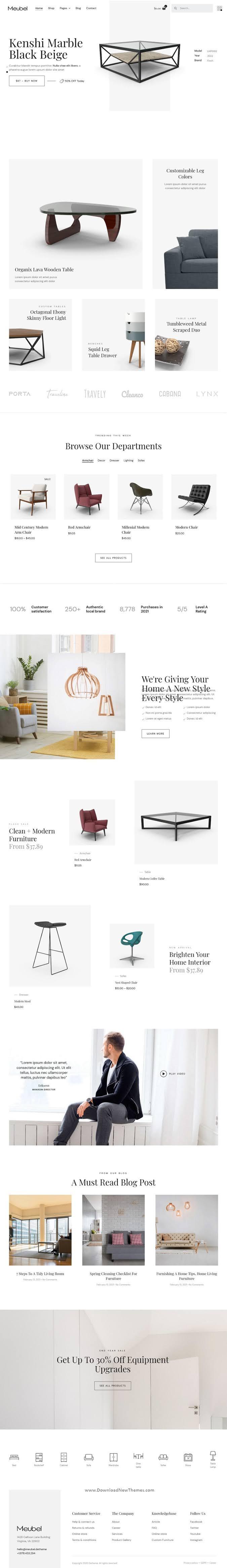 Modern Furniture WooCommerce Elementor Template Kit
