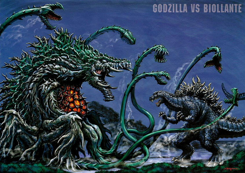 godzilla vs biollante coloring pages - photo#34
