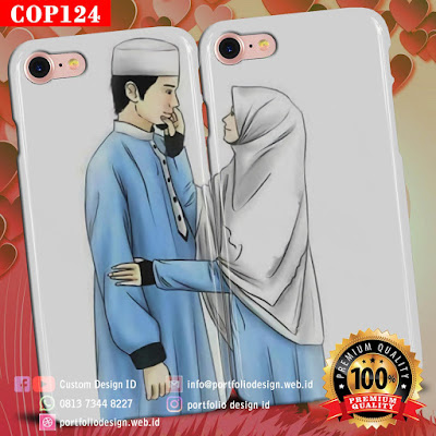Model casing handphone couple pasangan muslim terbaru COP124