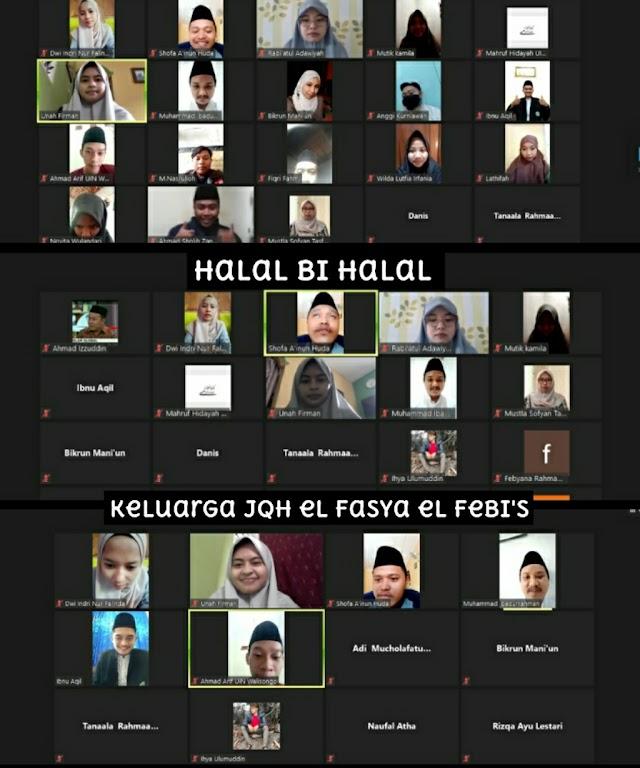 Halal Bihalal Virtual Keluarga JQH eL Fasya eL Febi's 2021