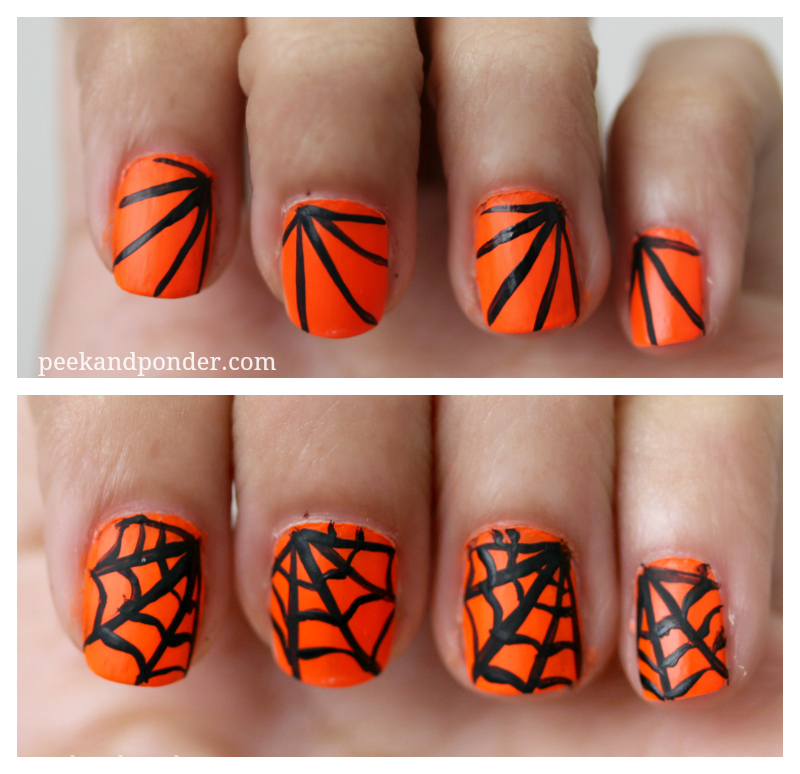 Last Minute Halloween Nails