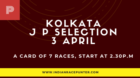 Kolkata Jackpot Selections 3 April