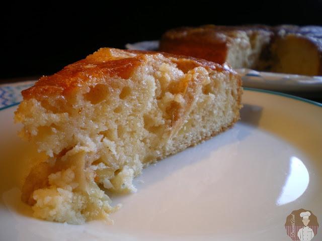 Tarta de manzanas, receta de Doña Cristina: porción