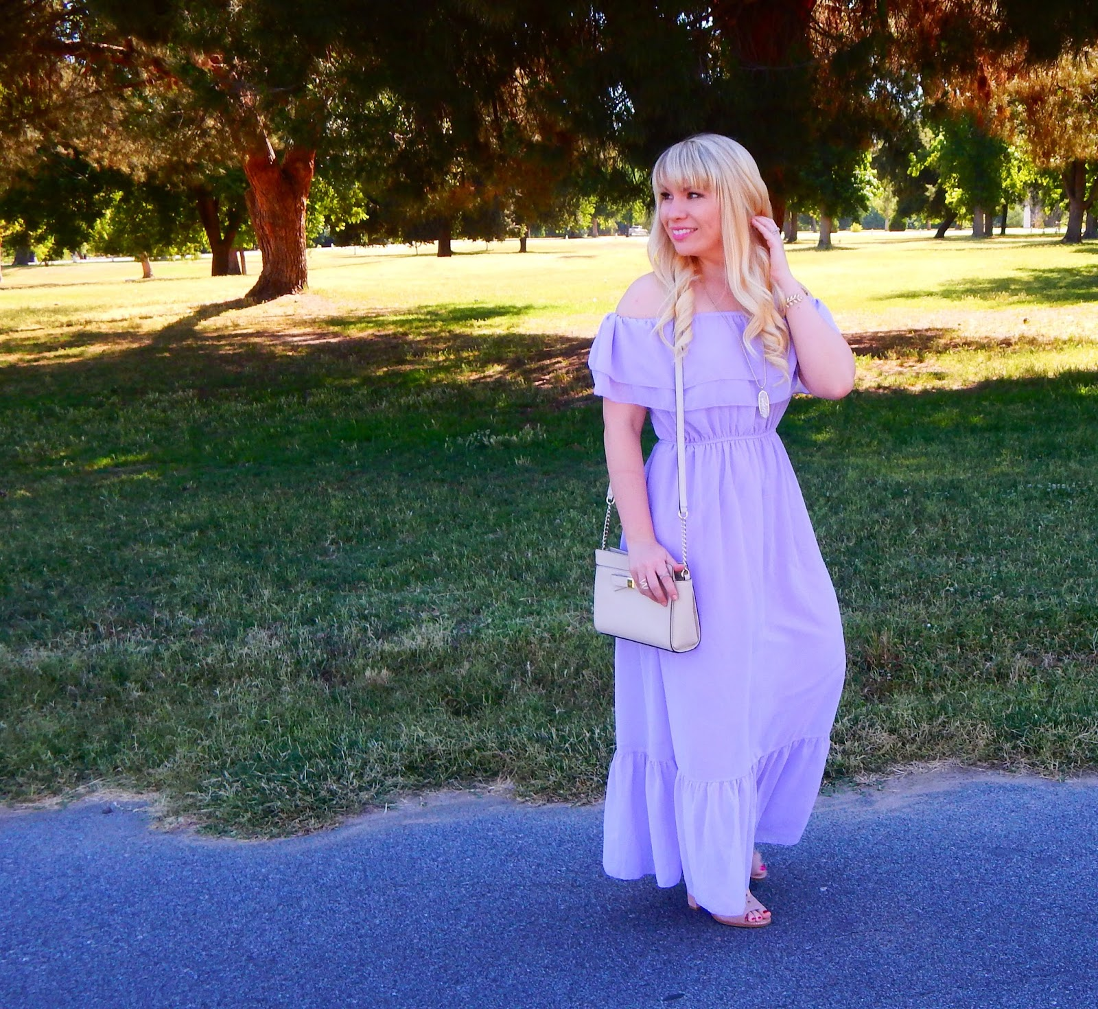 2 x summer dresses lavender