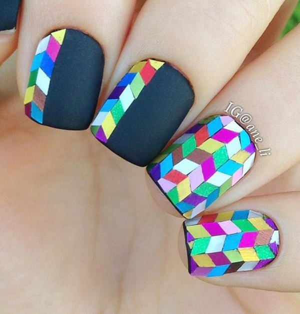 20+ Stylish Rainbow Nail Art Ideas