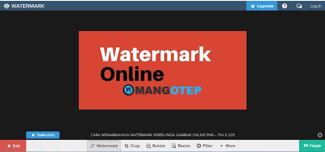 Cara Menambahkan Watermark keren pada Gambar Online