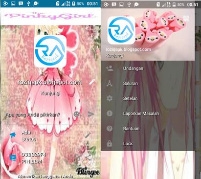 BBM Mod Pinky Girl Apk Terbaru Free Download.
