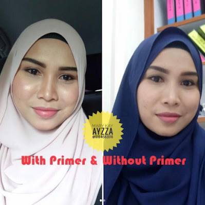 testimoni mary Kay foundation Primer spf15 makeup glowing dan flowless