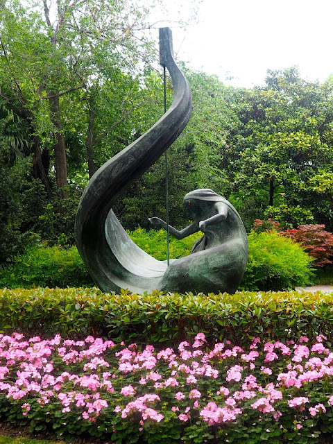 Musical statue in French Concession, Shanghai, China