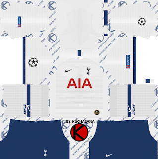 Tottenham Hotspur 2019/2020 champions league Kit - Dream League Soccer Kits