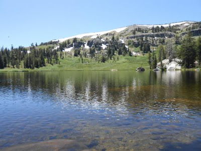 spiritual oneness, alpine lake, mountains, evergreen trees, spiritual nature,