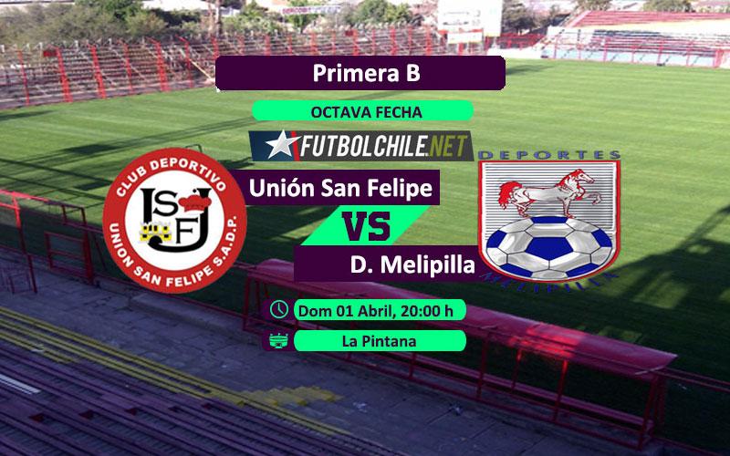 Unión San Felipe vs Deportes Melipilla : Previa, horario, dónde ver en vivo por TV y online por la Primera B
