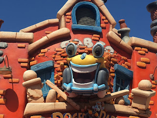 Benny the Cab Roger Rabbit's Car Toon Spin Sign Disneyland