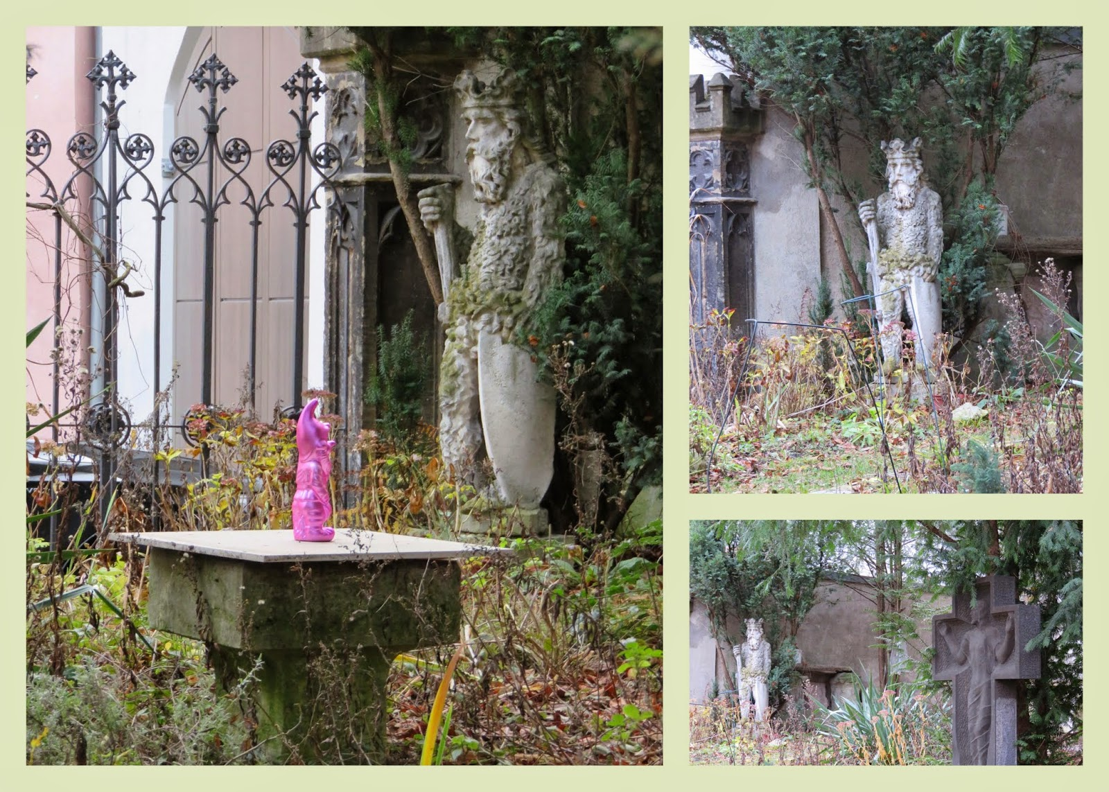Hot pink gnome in Regensburg