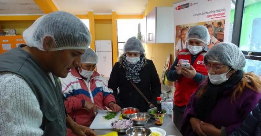 QALI WARMA: Programa social capacita a padres de familia en preparación de recetas a base de alimentos nutritivos y arroz fortificado en Pasco - www.qaliwarma.gob.pe
