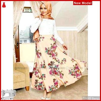 FHGS9097 Model Velvet Flowy Hijab, Muslim VL Setelan Perempuan BMG