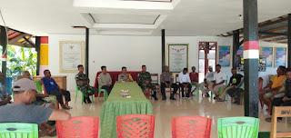 Pos Solore Satgas Pamtas Yonif R 142/KJ Hadiri Musyawarah Penyelesaian Masalah Tanah di Desa Tulakadi