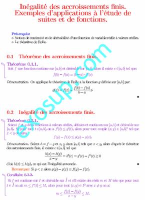 Inégalité des accroissements finis Exemples d'applications à l'étude de suites et de fonctions
