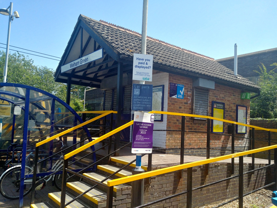 Welham Green station - image by North Mymms News released under Creative Commons