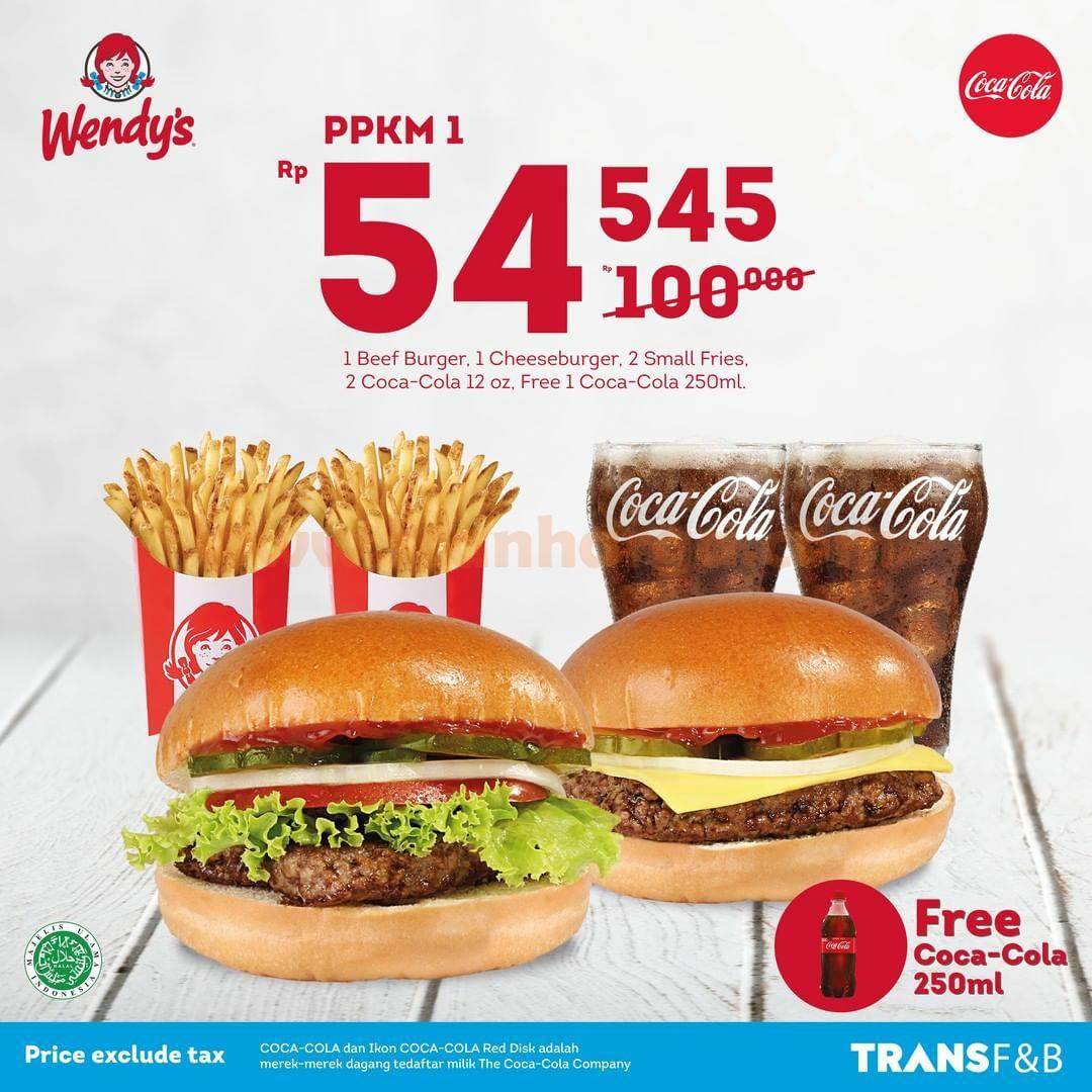 WENDYS PPKM! Promo Paket Kenyang Makan Mantap - Serba Rp 54.545