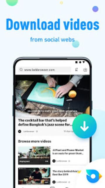 تحميل تطبيق Lark Browser و إستمتع بتحميل فيديوهات الفيسبوك والإنستغرام من خلال هذا المتصفح  للأندرويد والأيفون