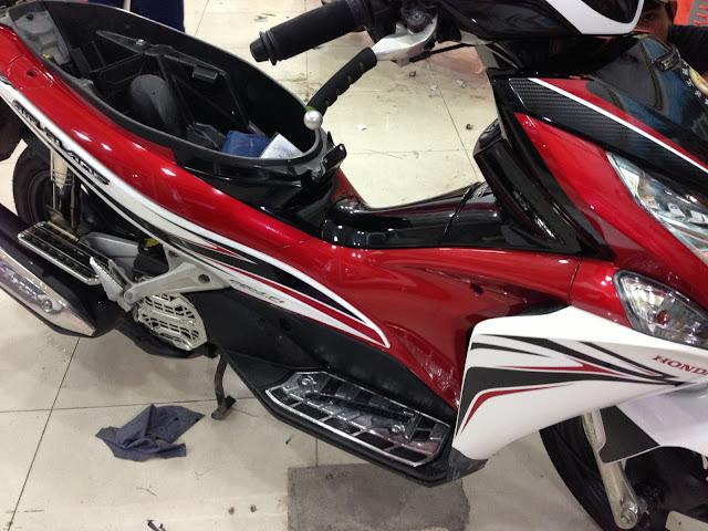 Sơn dặm, tút mới xe máy tận nhà tại quận Tân Bình Tphcm