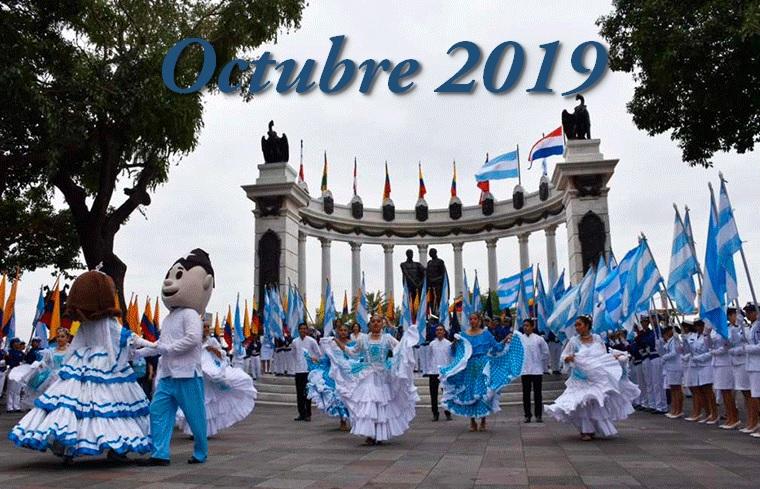 Programa completo fiestas octubrinas Guayaquil 2019