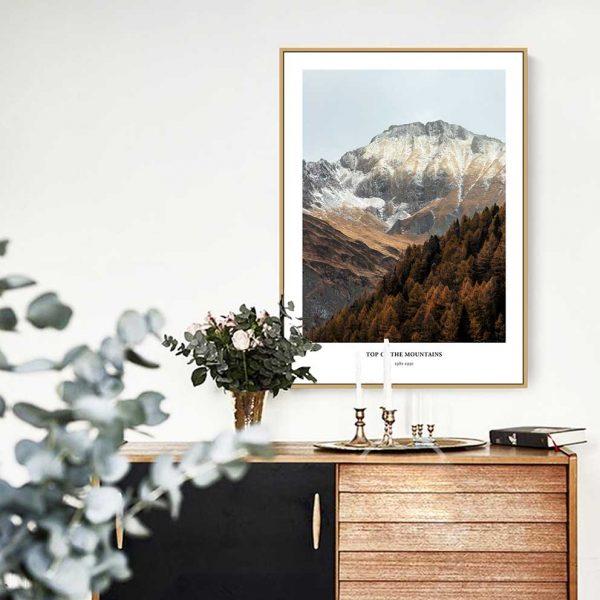 tranh phong cảnh đẹp rừng núi hợp phong thủy