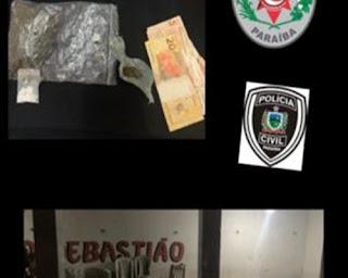 Em Cuité, Polícia prende traficante e acaba festa regada a drogas