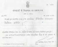 certificate of society registration