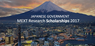 JAPANESE GOVERNMENT (MONBUKAGAKUSHO:MEXT) SCHOLARSHIP FOR 2017 (RESEARCH STUDENTS)