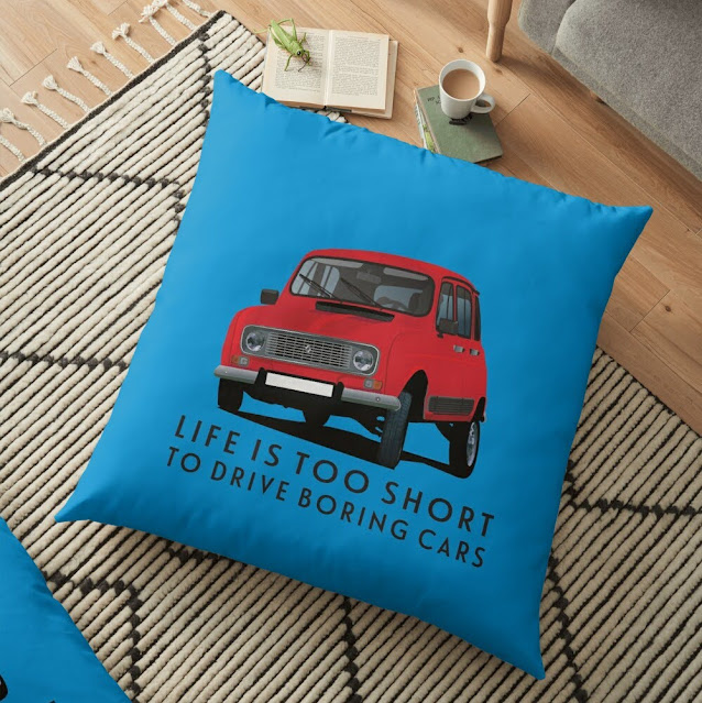 Life is too short to drive boring cars - Renault 4 gifts