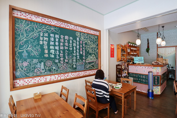 原素齋大里店|巷弄裡的素食美食,天然食材的炒飯、義大利麵、焗烤