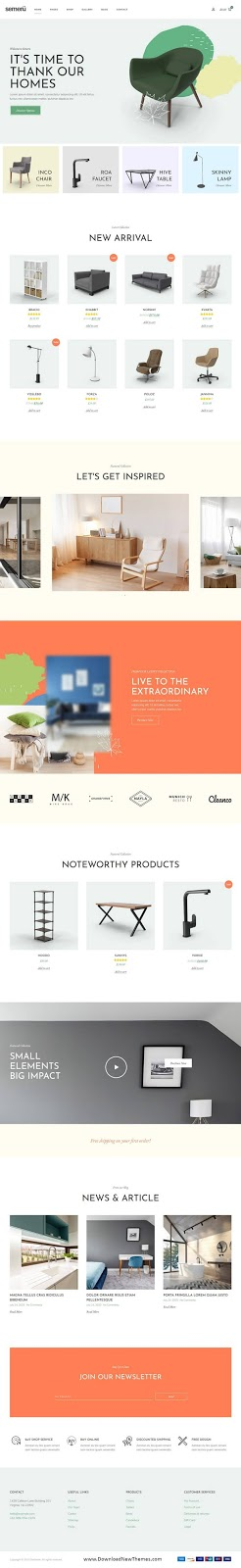 Furniture Store Elementor Template Kit